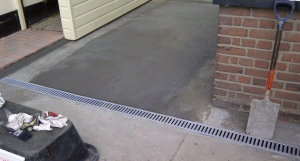 concreting work